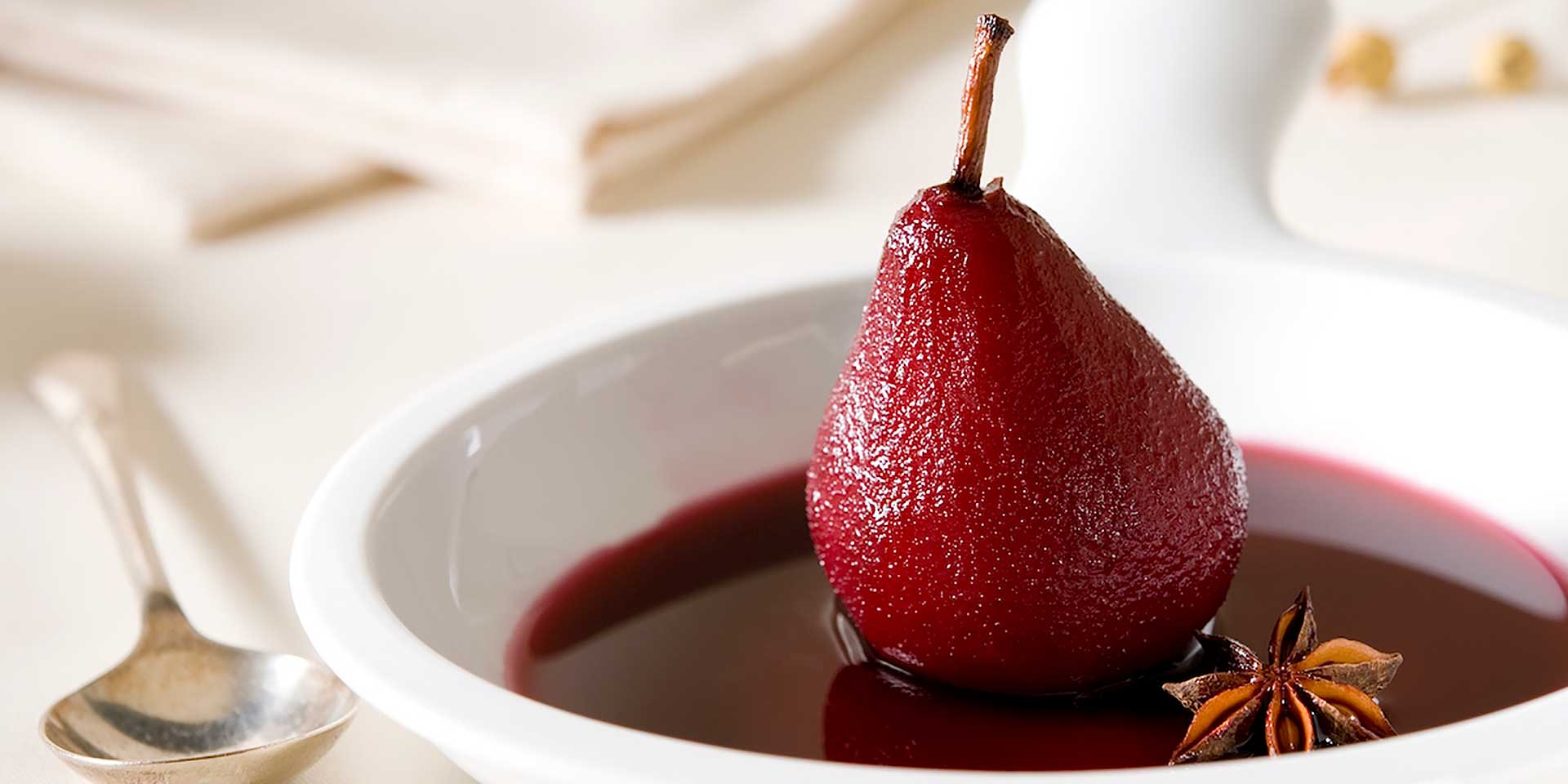 Orange and Star Anise Scented Poached Pears